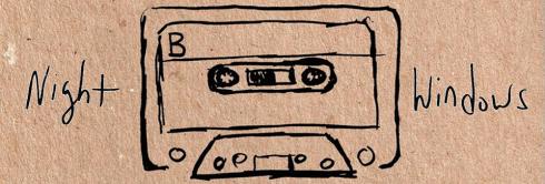 banner Night Windows - Musicassette-Magnetic Memory