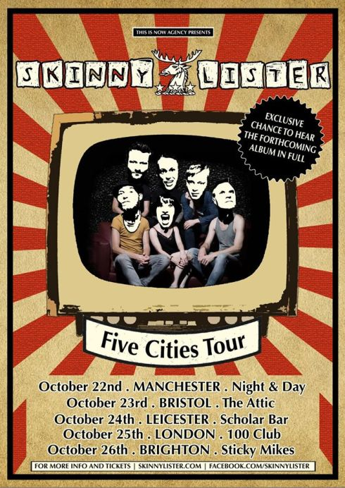 Skinny Lister - UK tour