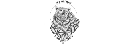 banner Arms & Hearts - Set In Stone